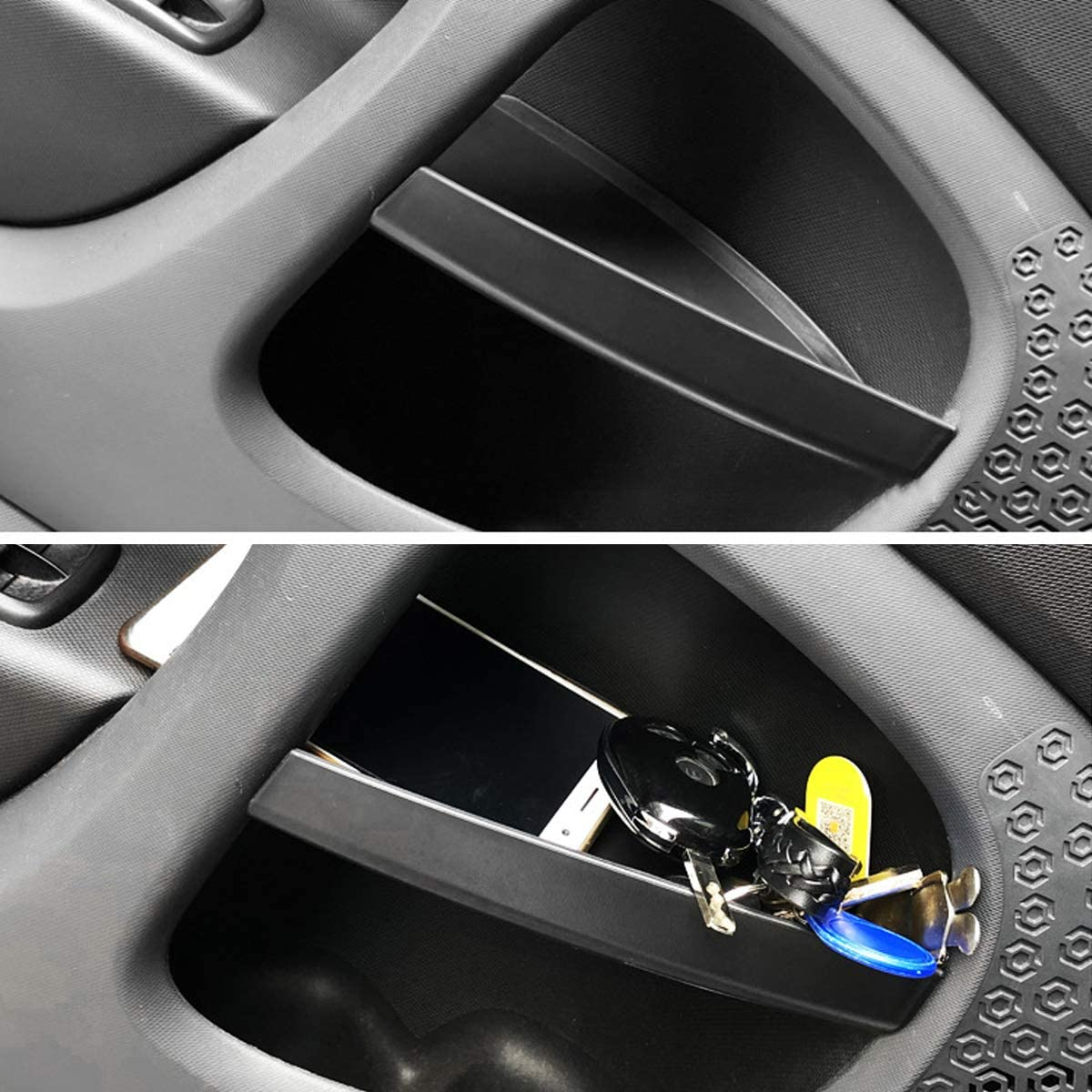 CHEYA ABS Plastic Car Door Handle Storage Box Container Glove Auto Organizer for Mercedes Benz Smart 453 fortwo 2015-2019