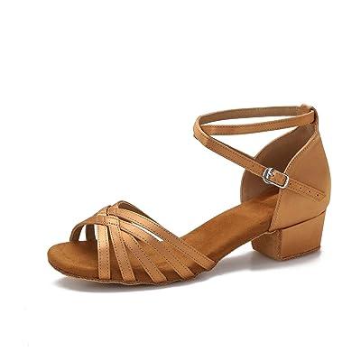 Yokala Womens Latin Salsa Dance Shoes for Social Beginner Low Heel Ballroom Practice Dancing Sandals S04 | Ballet & Dance