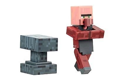 Amazon Com Minecraft Blacksmith Villager Figure Pack Toys Games