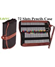 Miraclekoo 72 Canvas Colored Pencil Wrap Case Roll up Pouch Pencil Holder Organizer for School Office Art for Students Artist Hobbyist MCPW