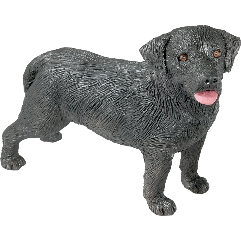 Sandicast Mid Size Black Labrador Retriever Sculpture-Standing