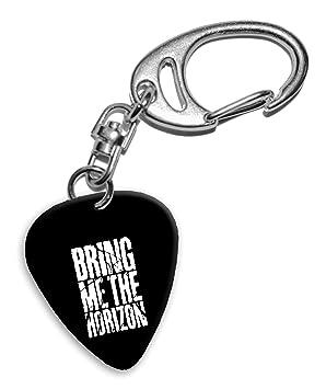 Bring Me The Horizon Band Logo Llavero de púa de guitarra (H ...