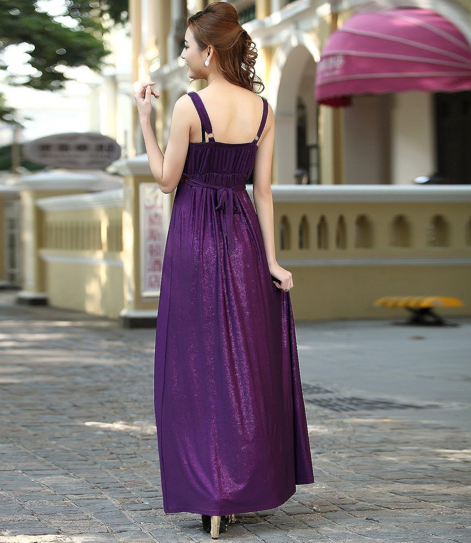 Medeshe largo dama noche fiesta Prom Maxi vestido Empire estilo ...