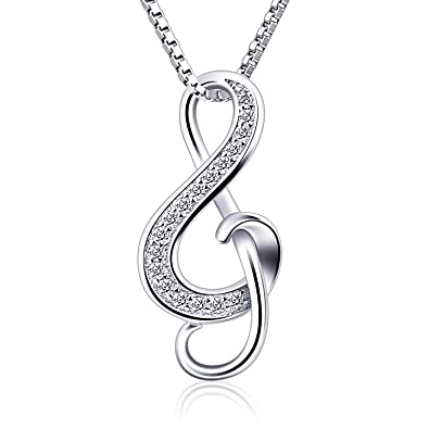 Btcher silver necklaces music note pendant necklace s925 btcher silver necklaces music note pendant necklace s925 sterling silver women jewellery mozeypictures Choice Image