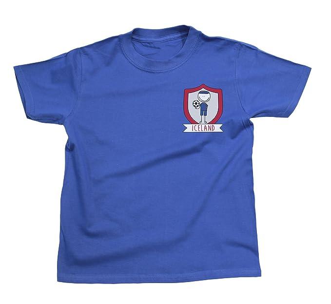 Niños O Niñas Iceland Fútbol Doodle Team Badge Camiseta Copa Mundial 2018 Kids Fan Sports: Amazon.es: Ropa y accesorios