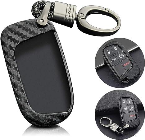 Matt Carbon Fiber Look Smart Car Key Case Holder Protector Accessories For Audi