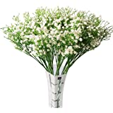 Baby Breath/Gypsophila Artificial Fake Silk Plants Wedding Party Decoration Real Touch Flowers DIY Home (White)