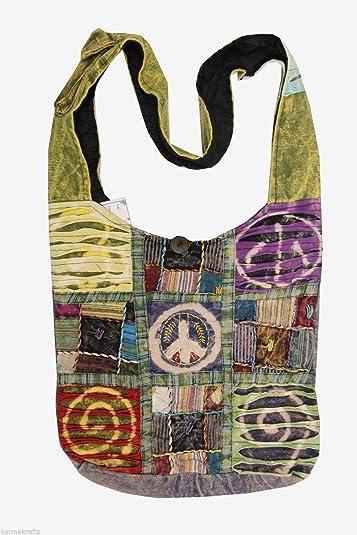 Amazon.com: Lungta Hobo Hippie Gypsy reciclado Razor Cut ...
