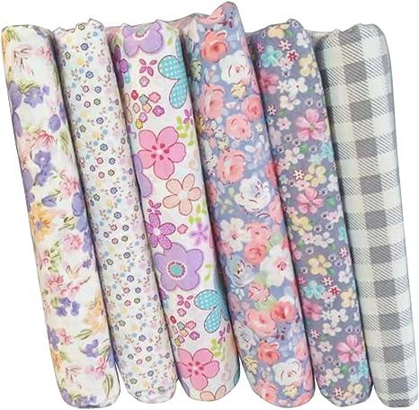 Trozos de tela de algodón estampada para acolchado de ChicSoleil, de 25 x 25 cm, para colcha de retazos, adornos, álbumes de recorte, 7 unidades: ChicSoleil: Amazon.es: Juguetes y juegos