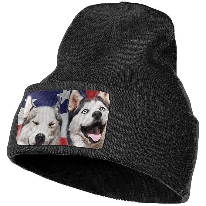 Amazon.com  Husky Dog Winter Beanie Hat Soft   Warm Chunky Skull ... 8645976e826