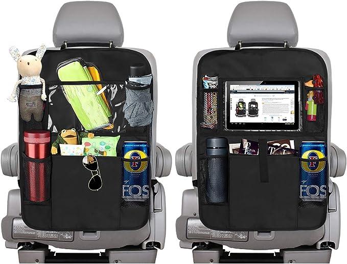 Ammzzoo111 Backseat Car Organizer Auto Car Backseat Headrest Hanging Rubbish Trash Bag Garbage Can Storage Pouch Car Organizer Kick Mats