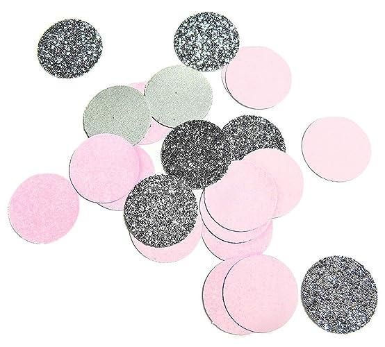 Rund Silber Glitter Rosa Konfetti Fur Tischdekoration Hochzeit