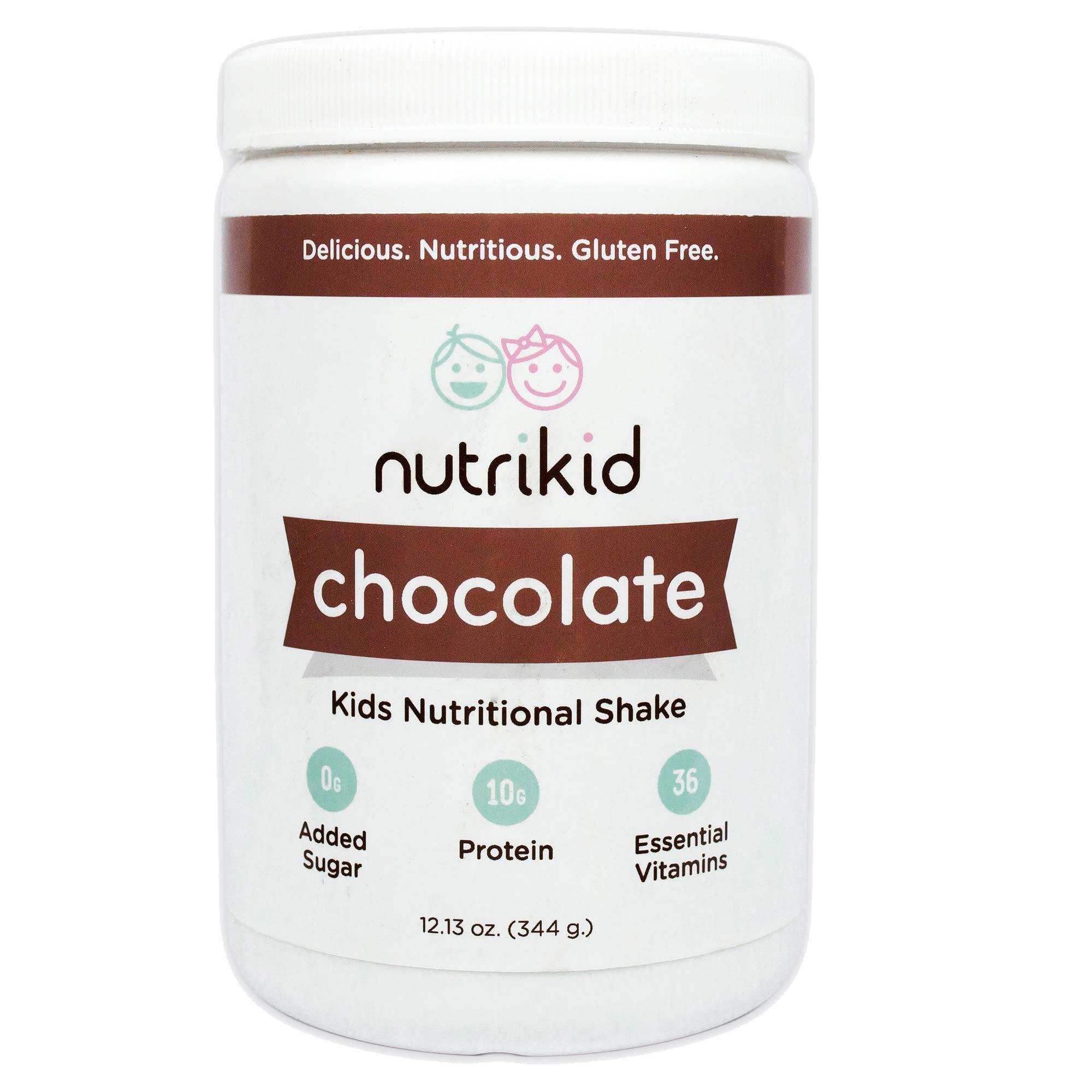 Kids Protein Shake - Nutritional Chocolate Superfood Powder With Essential Vitamins, Fiber & Digestive Enzymes - Toddler Nutrition Drink - Boost Growth, Bone Health & Brain Development - 12.13oz by NutriKid
