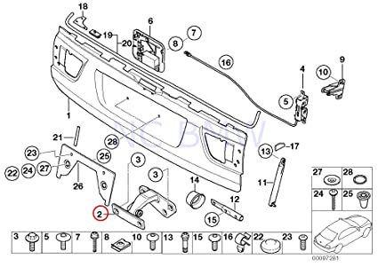 amazon bmw genuine lower part trunk lid hinge automotive 2001 BMW 325Ci Black image unavailable