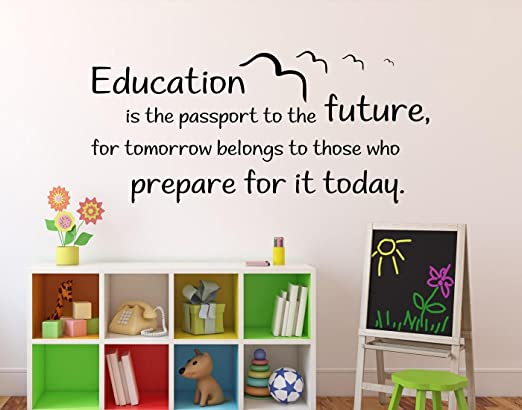 education is the passport to the future wall decal vinyl sticker