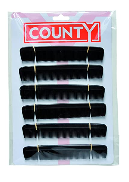 Gents Comb 6 Inch pack of 12 Black