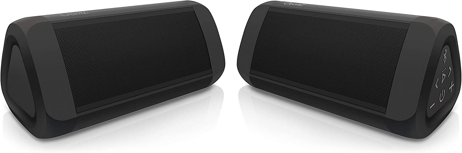 OontZ Angle 3 Ultra Portable Bluetooth Speaker, Two Speaker Edition, 14 Watts, Bigger Bass, Hi-Quality Sound, 100 Ft Wireless Range, IPX6, Bluetooth Speakers by Cambridge SoundWorks (Black)