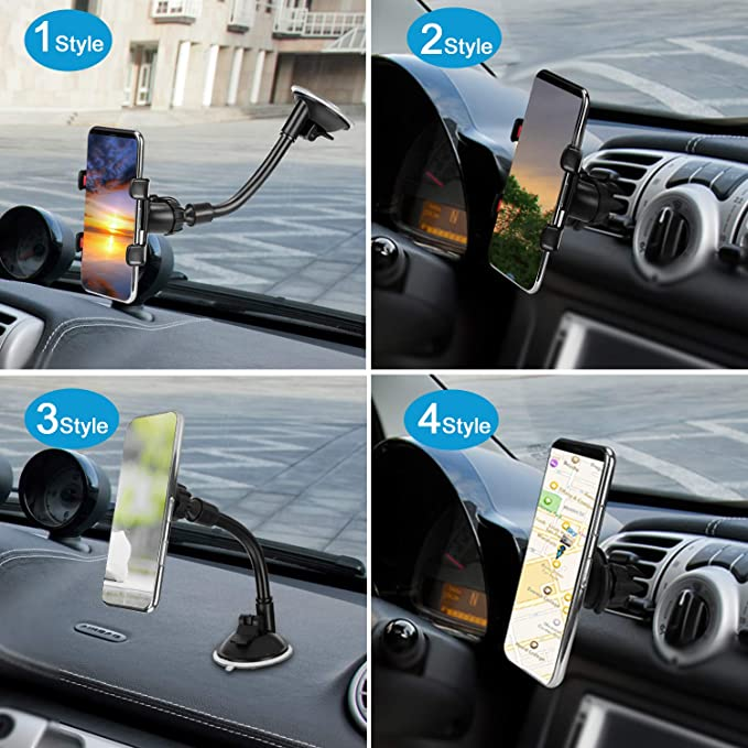 LoyaForba Universal Phone Holder For Car Cell Phone 360 Degrees Dashboard Desk Wall Bracket for GPS Navigation and Any Smartphone Carmount0125 Car Phone Mount