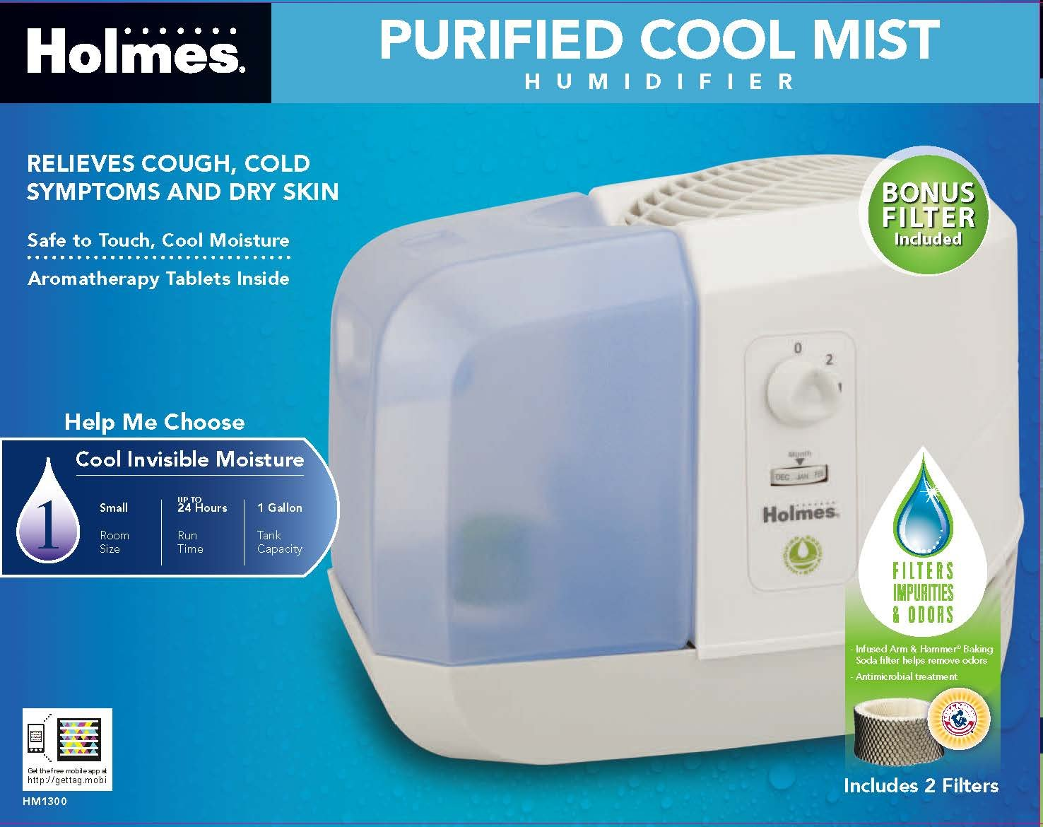 Holmes One Step Fill /& Clean Cool Mist Humidifier HM5100 HM5100-UM