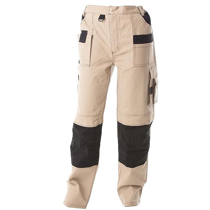Pantalone da Lavoro Uomo Cotone Professionali Tasche Porta ginocchiere JRC  Qatar 3189d3672ad