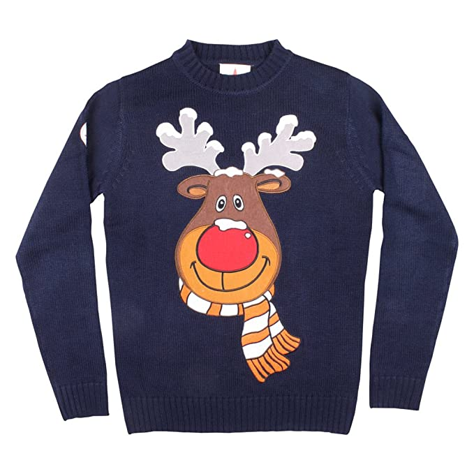 3956f39aeea02 Funky Christmas Jumpers Ugly Christmas Sweater - Rudolph Christmas Sweater  (X-Large)