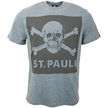 cf7dc4d9164e07 FC St. Pauli Herren T-Shirt Totenkopf Blue Screen (L)  Amazon.de ...
