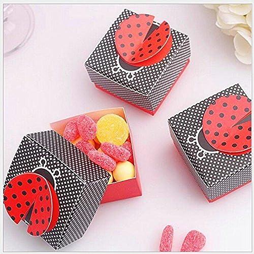 JZK 50 x boite dragees bonbons coffret cadeau pour mariage, anniversaire, bapteme, communion, graduation, fête, Noël, ou diverses occasions, idéal pour bonbons, chocolats, petits cadeaux et des bijoux, etc (
