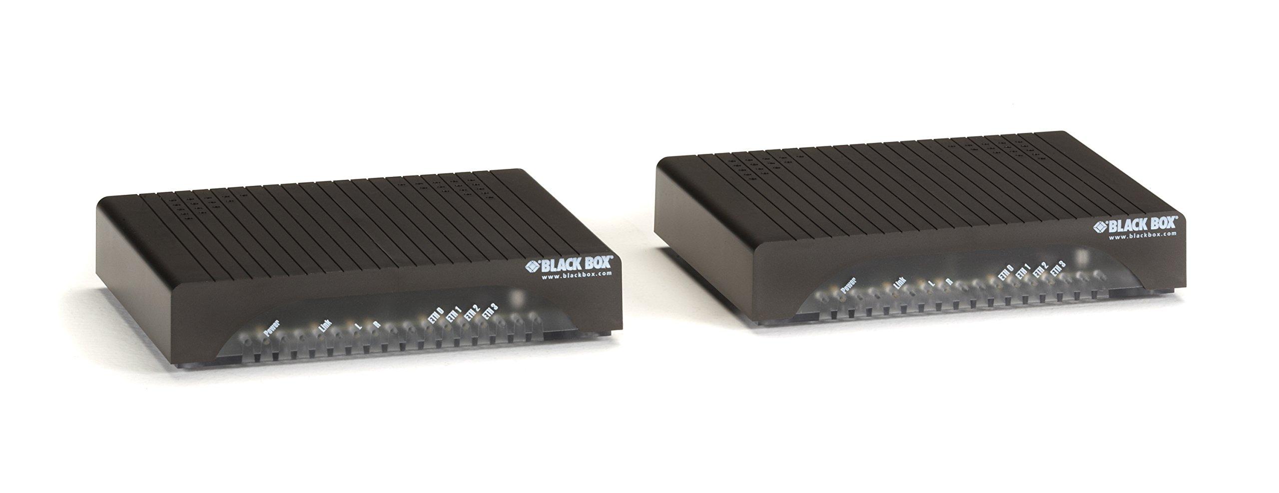 Black Box 8-Port 10BASE-T/100BASE-TX Hardened Ethernet Extender Switch