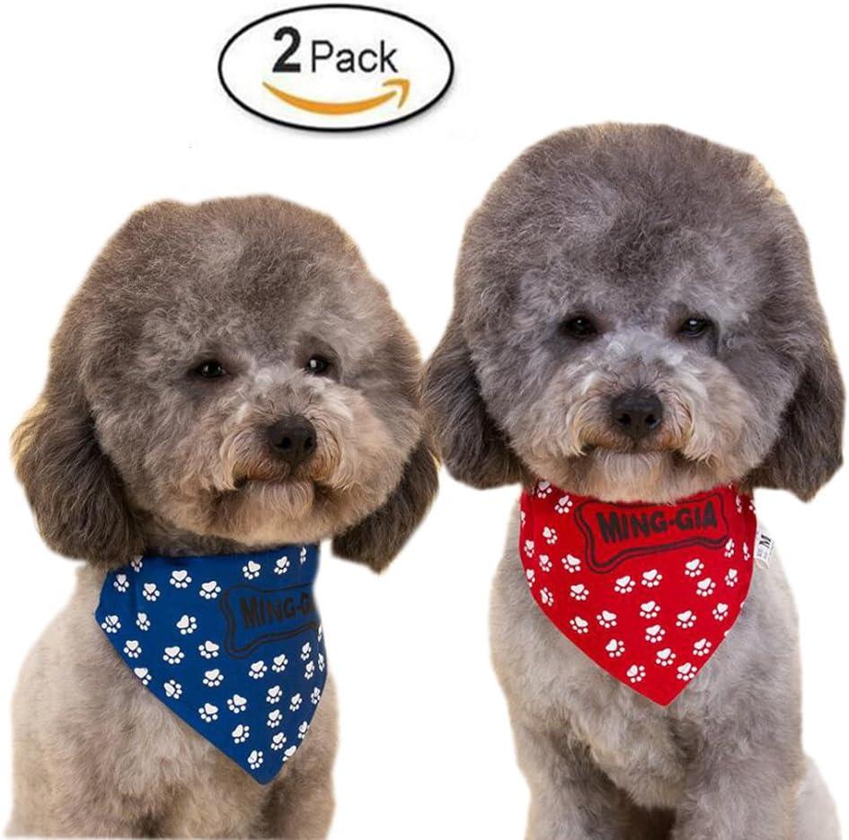 WiseGoods Bandanas ajustables con hebilla para perro, gato, pack ...