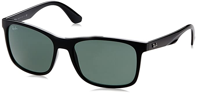 24e0068066 Ray-Ban INJECTED MAN SUNGLASS - BLACK Frame GREY GREEN Lenses 57mm Non- Polarized