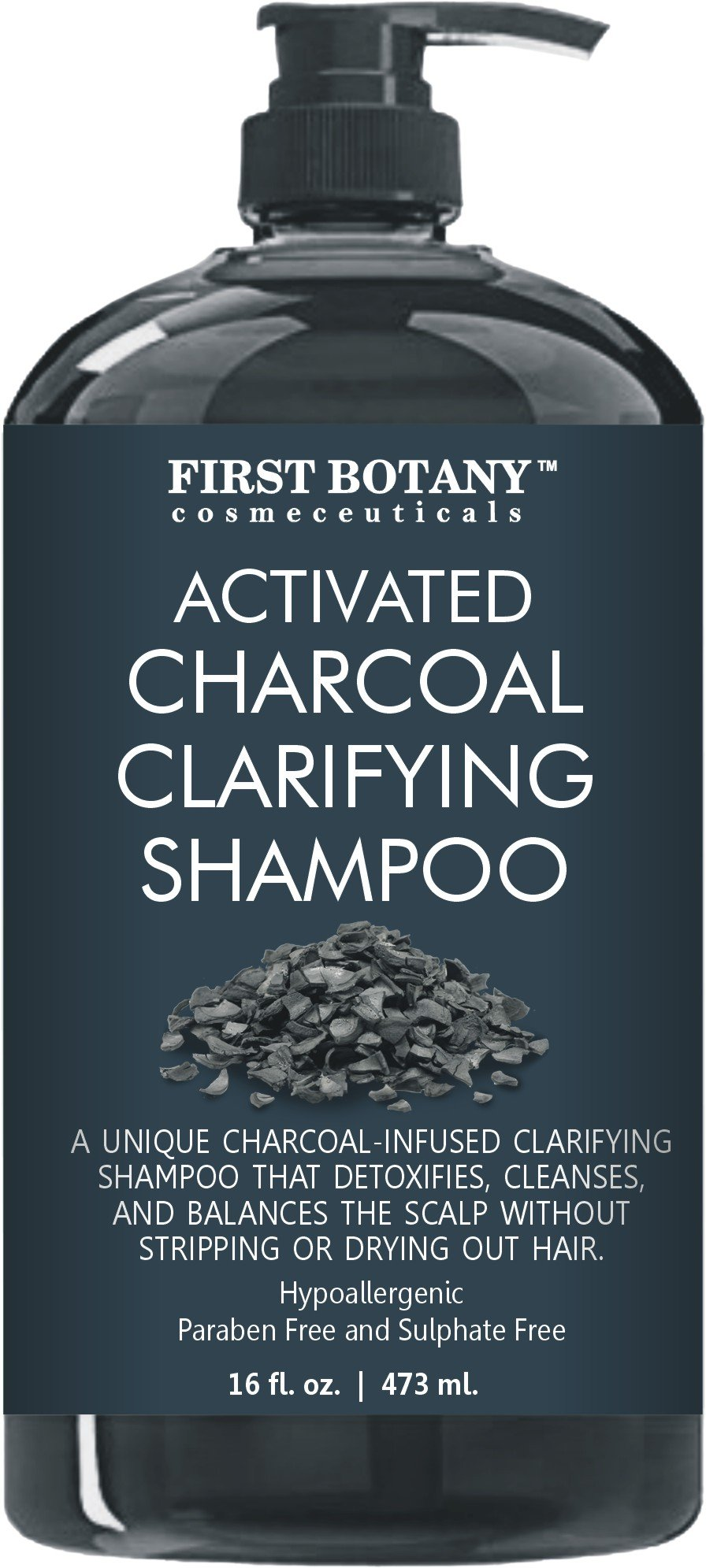 Amazon Activated Charcoal Shampoo 16 Fl Oz Sulfate Free