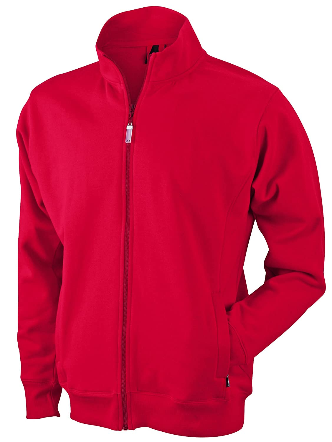 Rouge L JAMES & NICHOLSON Veste Sweat-Shirt