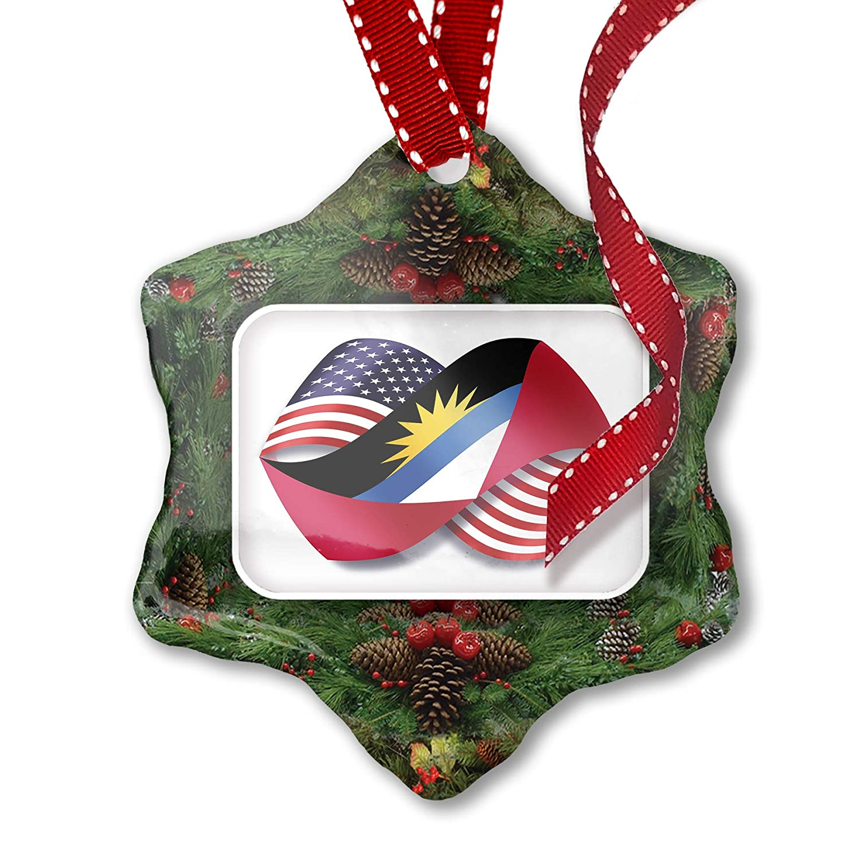 NEONBLOND Metal License Plate Infinity Flags USA Antigua Barbuda