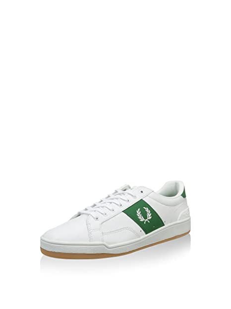 Fred Perry Zapatillas New Tennis Blanco/Verde EU 42 (UK 8)