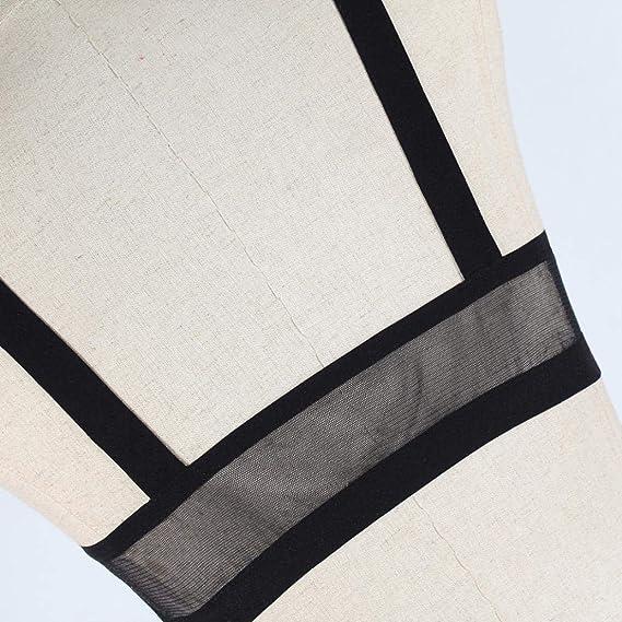 DEELIN Ropa Interior De Las SeñOras Babydoll TentacióN Sexy Perspectiva De Malla Calado Ropa Interior Sexy Pijamas Conjunto Negro: Amazon.es: Ropa y ...