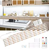 wobsion Led Under Cabinet Lighting, 6 PCS Dimmable Strip Lights with RF Remote, 12V Cabinet Lighting,High Bright with 180 LED