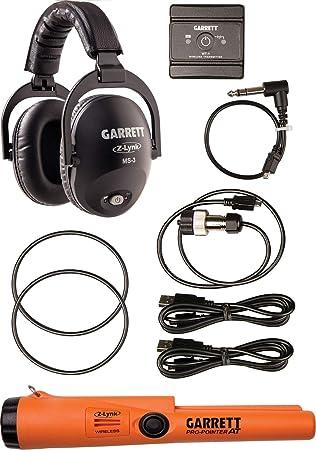 Garrett Metal Detectors MS-3 - Auriculares inalámbricos con Puntero Z-Lynk Pro-Pointer, Color Naranja y Negro, OS FA: Amazon.es: Deportes y aire libre