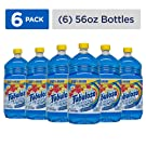FABULOSO All-Purpose Cleaner with Bleach Alternative, Spring Fresh, Bathroom Cleaner, Toilet Cleaner, Floor Cleaner, Washing Machine and Dishwasher Surface Cleaner, Mop Cleanser, 56 Fluid Ounce (Case of 6 Bottles) (153099)