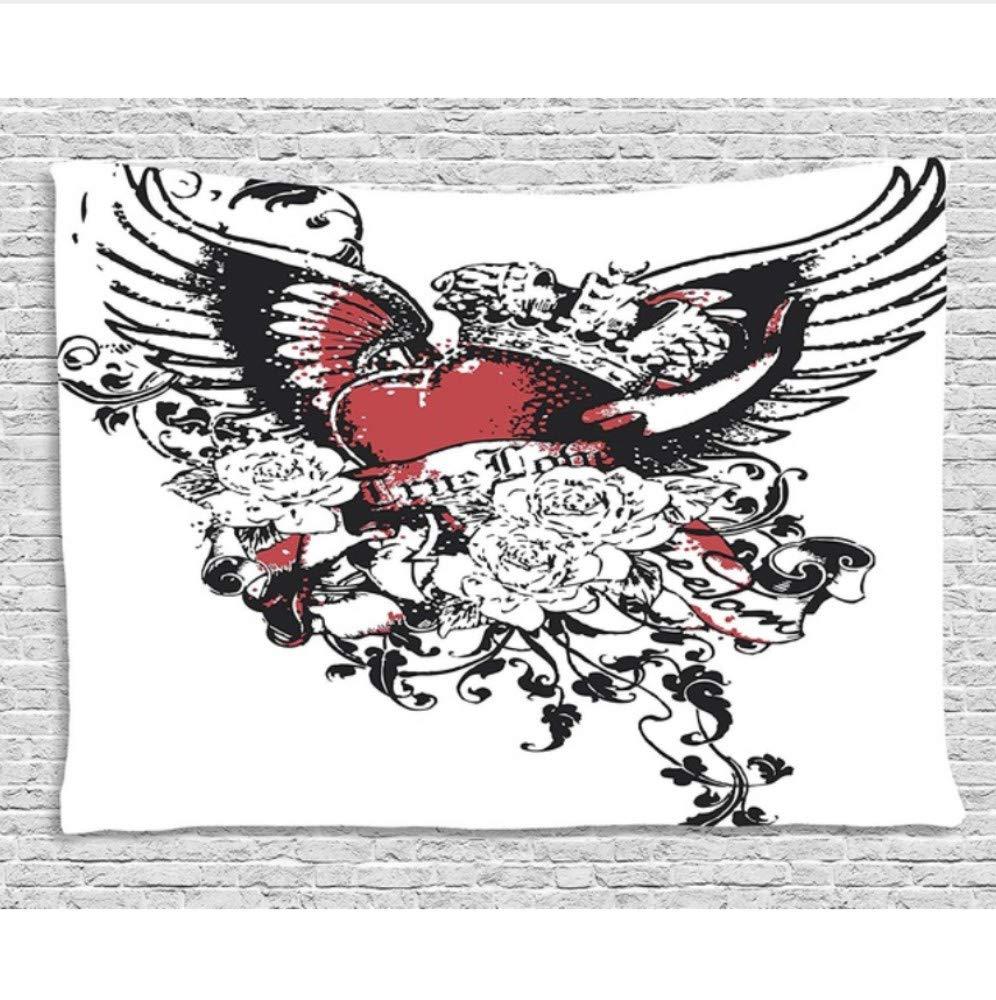 HYDDAXJW Arte Moderno Tapiz Estilo del Tatuaje Alas De La Corona ...