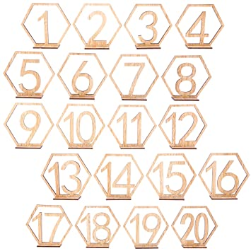 1-12 Holz Zahlen Tabellen Hochzeit Geburtstagsfeier Deko Vintage Tischnummern