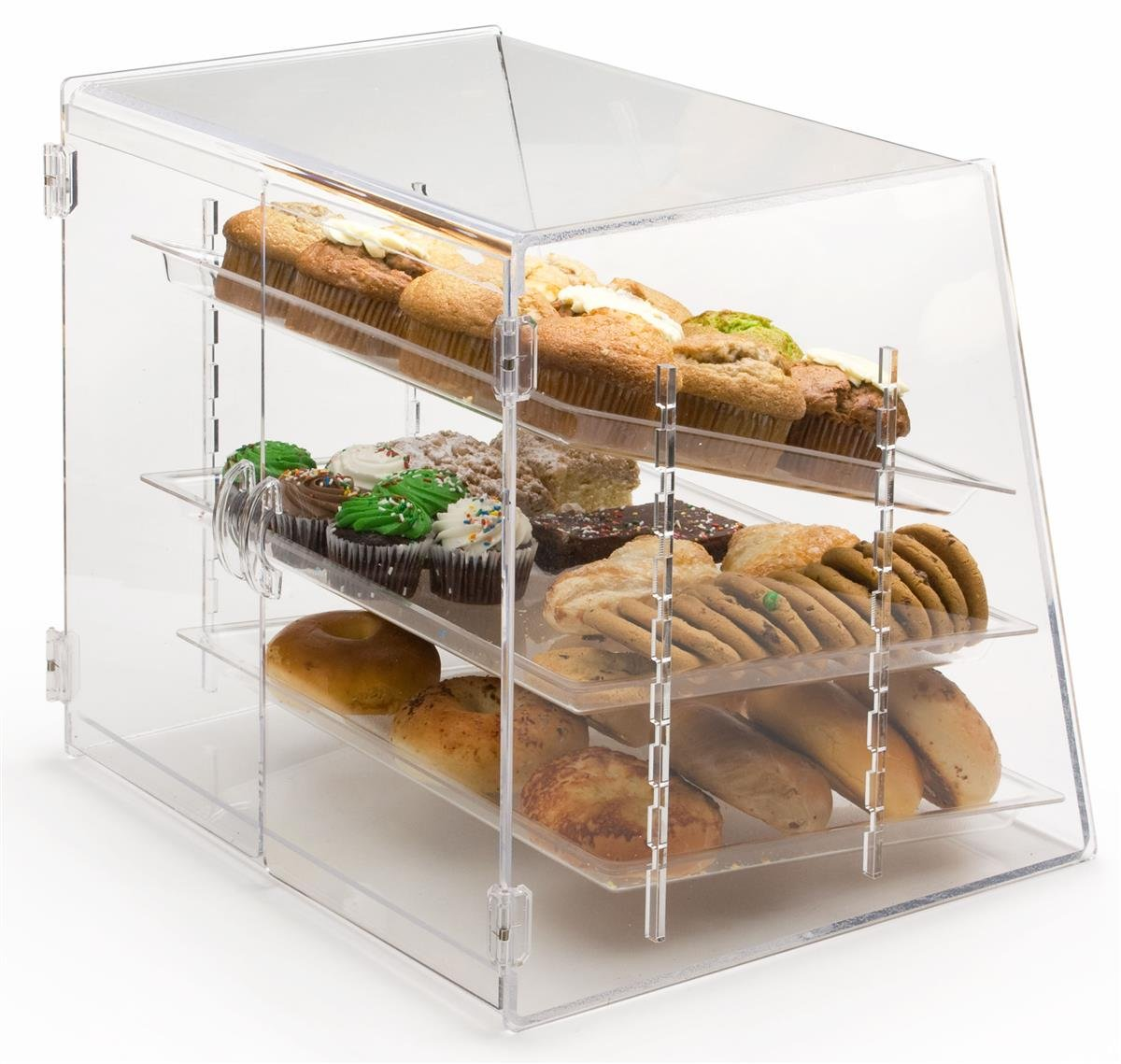 oak bakery x countertops countertop glass hubert and wood expressly product pastry display case