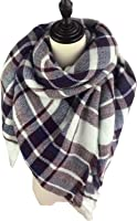LS Lady Stylish Large Tartan Warm Blanket Scarf Gorgeous Wrap Scarf Shawl