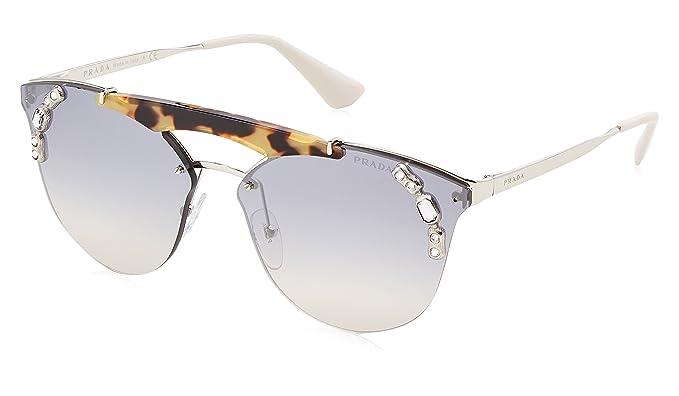 Prada 0PR53US 23C5R0 42 Gafas de sol, Plateado Medium Havana ...