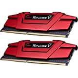 G. Skill Ripjaws V Series F4–3200 C14d-32gvr 32 GB DDR4 3200 MHz CL14 1,35 V Arbeitsspeicher-Kit – Blazing Red Rot