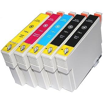 5 T1811 - T1814 T1816 COMPATIBLES de tinta de repuesto para ...