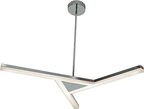 Access Lighting 63965LED-CH ACR Aviator LED Pendant with Acrylic Lens, Chrome