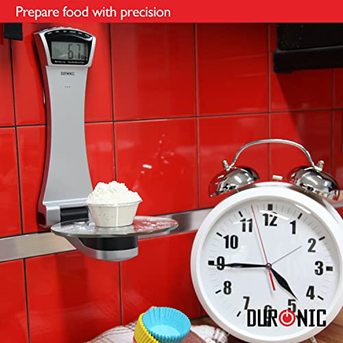 Duronic KS4000 Wall Mounted Digital Glass Kitchen Scales