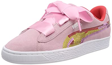 online retailer 12e19 4e1dc PUMA Girls' Suede Heart Trailblazer Sqn Jr Low-Top Sneakers ...