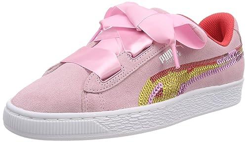 Puma Suede Heart Trailblazer SQN Jr, Sneakers Basses Fille