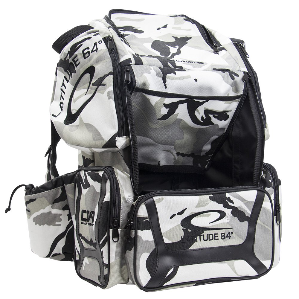 Latitude 64 DG Luxury Backpack Disc Golf Bag Arctic Camo & Black by Latitude 64